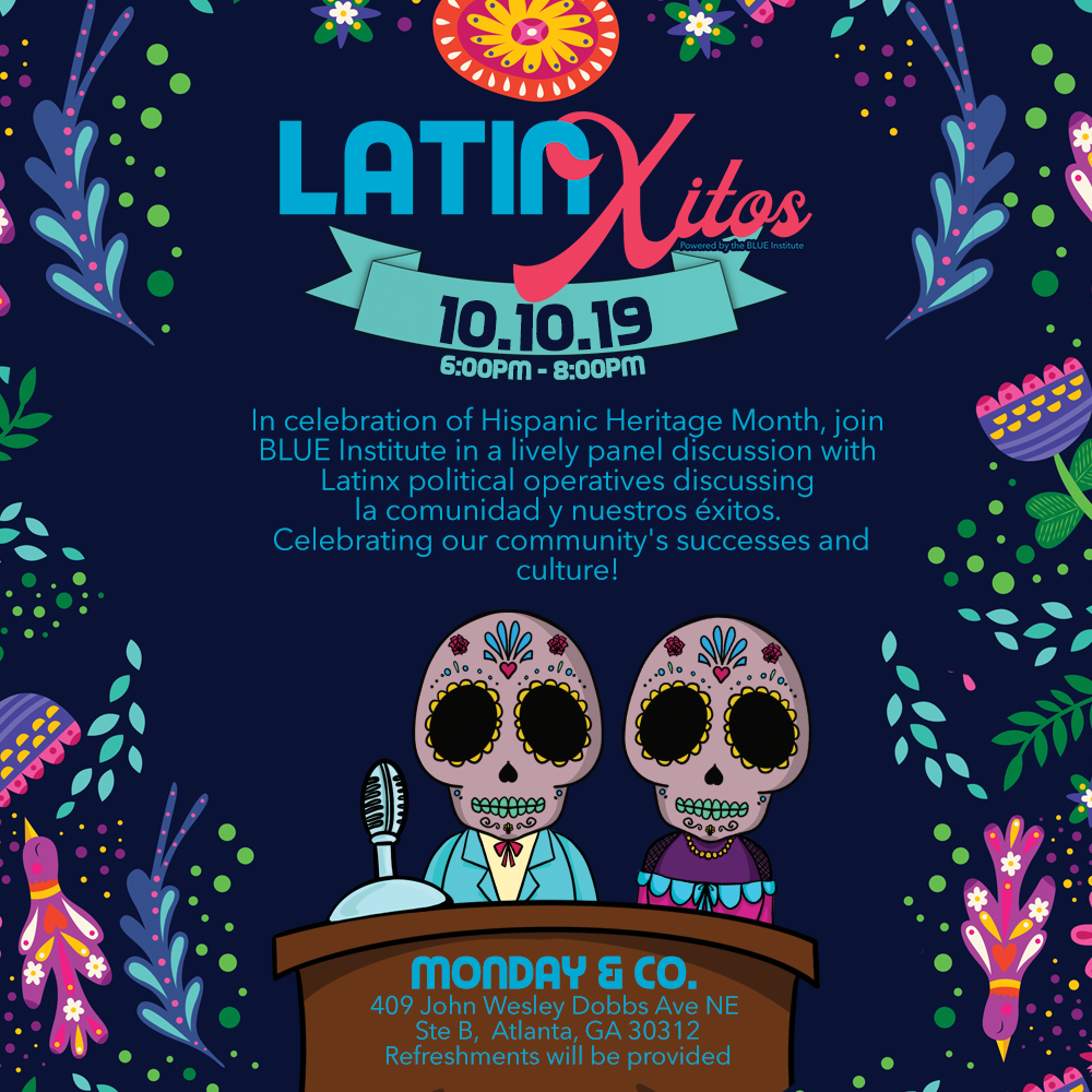 LatinXitos flyer with logo by Atlanta graphic design agency SkyCastle Productions