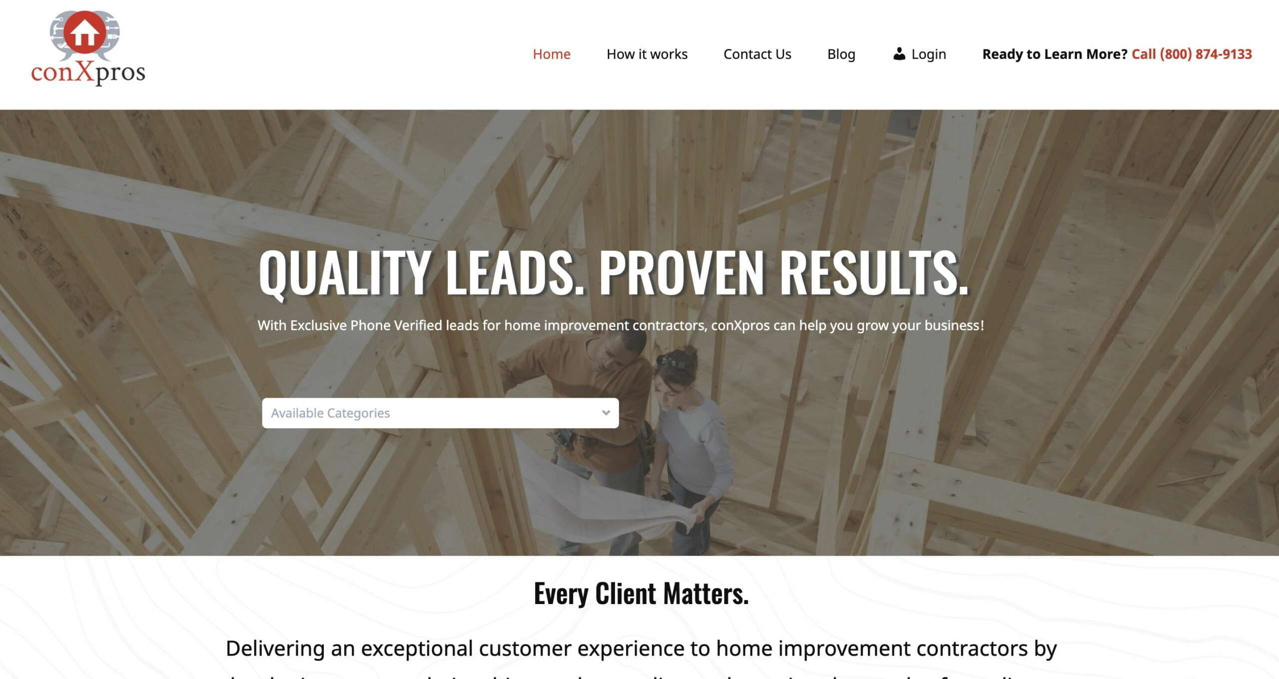 Screen Shot of conXpros website design by SkyCastle Productions based in Atlanta