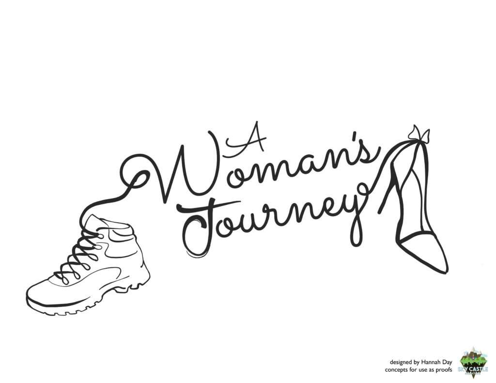 A woman's journey logo by Atlanta graphic design agency SkyCastle Productions
