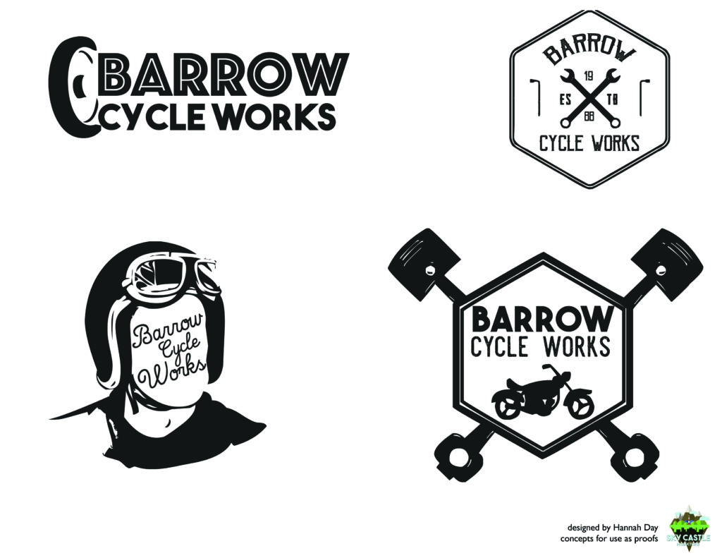 Barrow Cycle Works logo by Atlanta graphic design agency SkyCastle Productions
