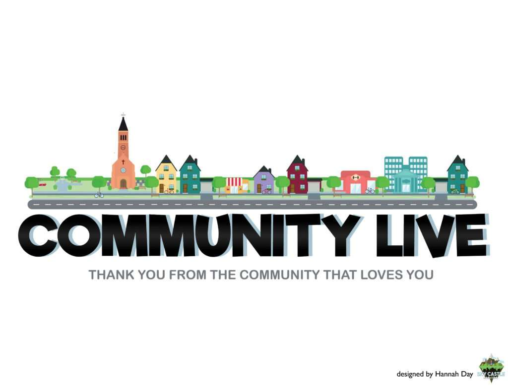 Community Live logo by Atlanta graphic design agency SkyCastle Productions