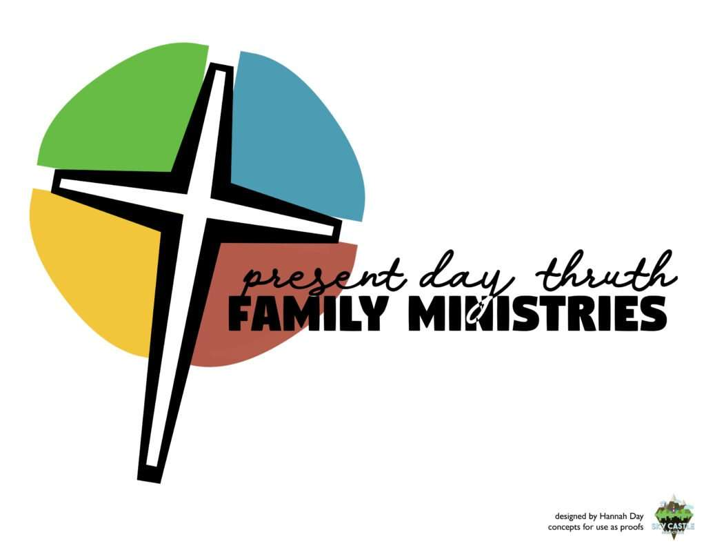 Present day truth family ministries logo by Atlanta graphic design agency SkyCastle Productions