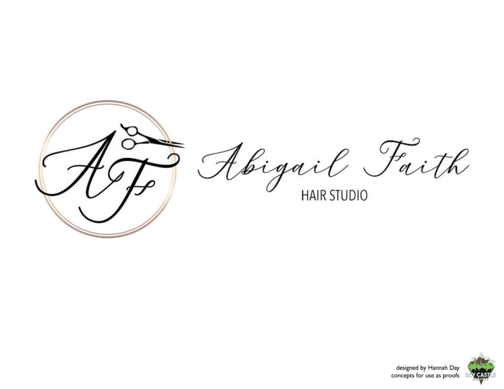 Abigail Faith Hair Studio logo by Atlanta graphic design agency SkyCastle Productions
