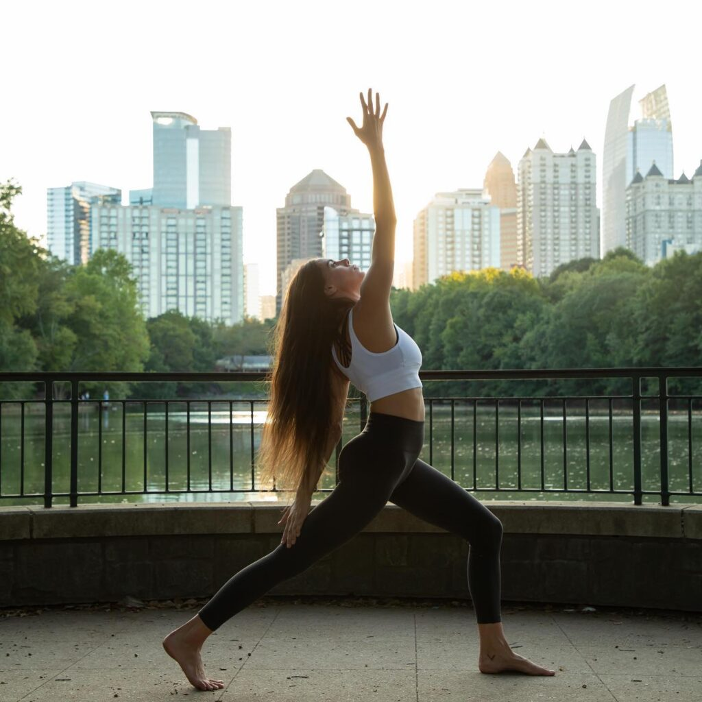 Photo of a yoga teacher taken by SkyCastle Productions Photographer William Twitty