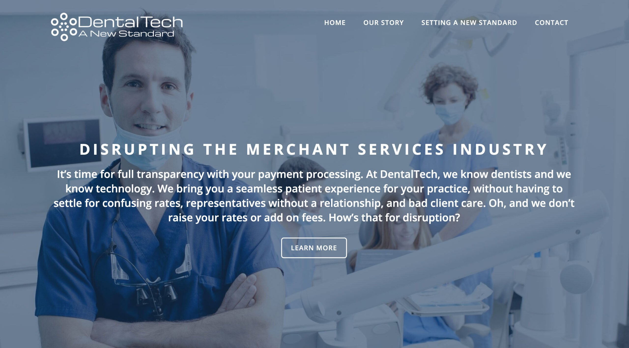 Dental Tech website design by SkyCastle Productions Atlanta Website Design firm