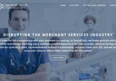 Dental Tech website design by SkyCastle Productions Atlanta Website Design firm
